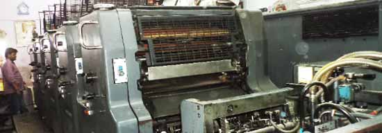 Multicolour printing press India